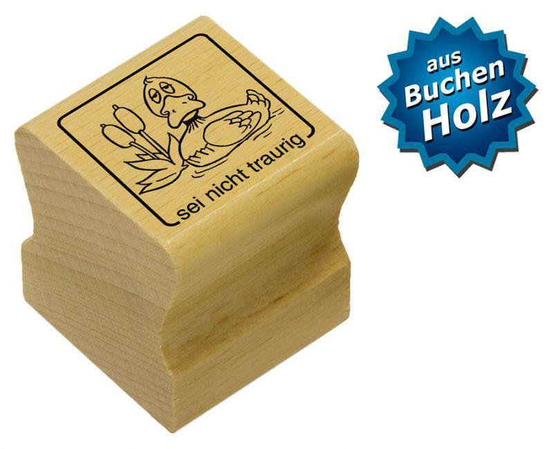 Elbi Motivstempel Kinder Holzstempel - sei nicht traurig