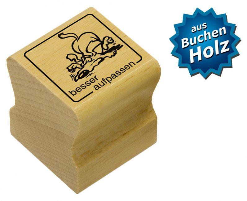 Elbi Motivstempel Kinder Holzstempel - besser aufpassen
