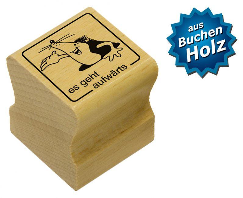 Elbi Motivstempel Kinder Holzstempel - es geht aufwärts