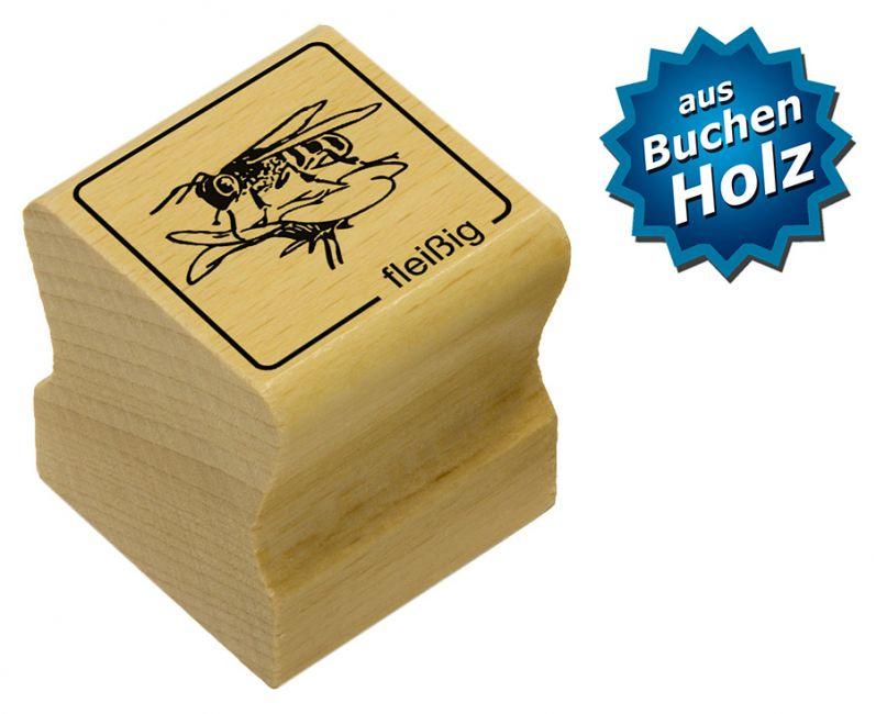 Elbi Motivstempel Kinder Holzstempel - fleißig