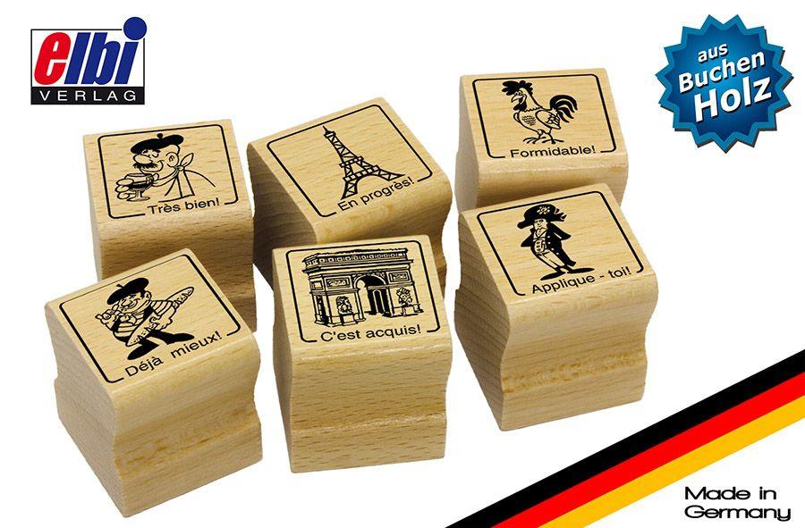 Elbi Französischstempel Set - Stempel für den Französischunterricht