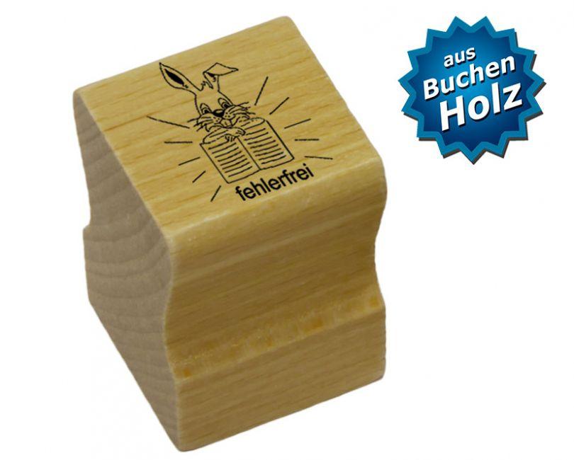 Elbi Stempel aus Holz für Lehrer - fehlerfrei