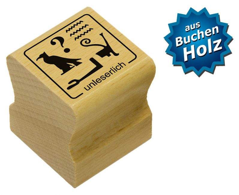 Elbi Motivstempel Kinder Holzstempel - unleserlich