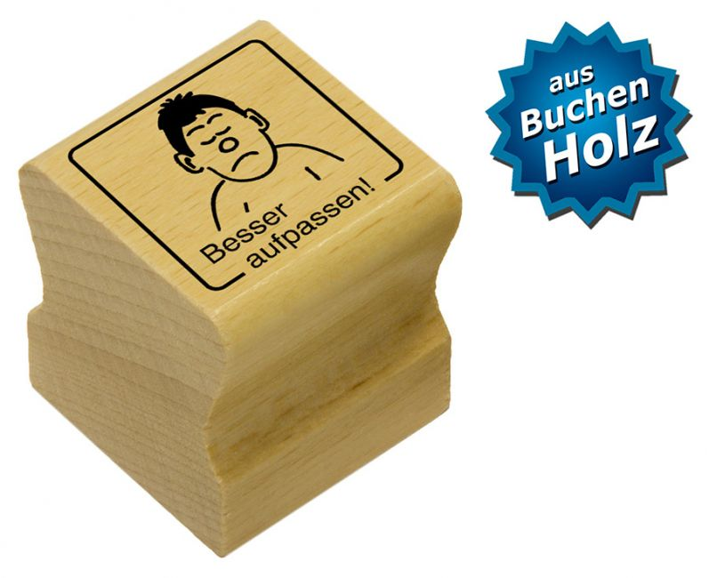Elbi Motivstempel Kinder Holzstempel - Besser aufpassen!