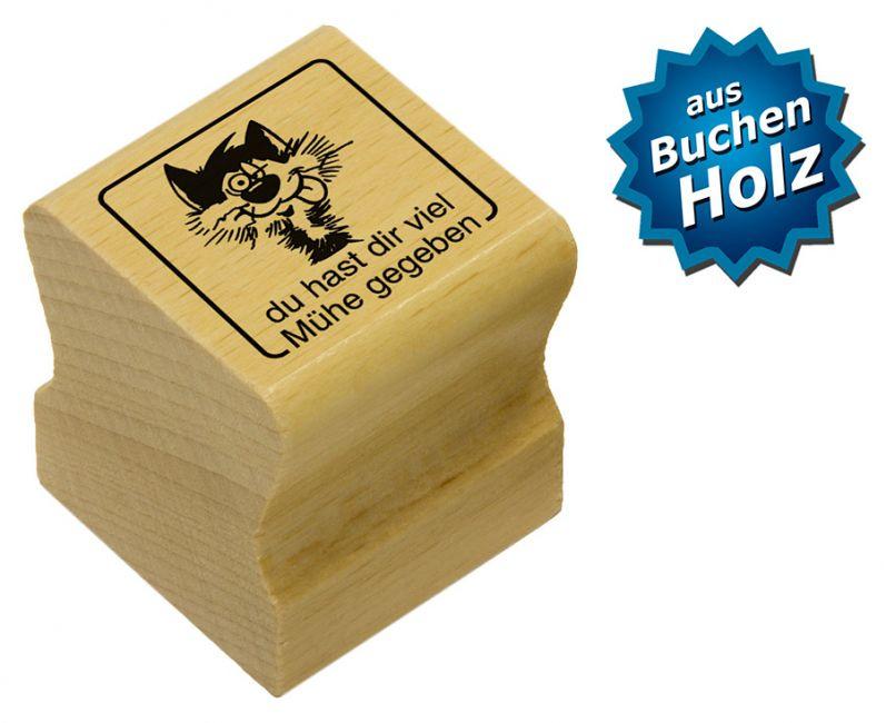 Elbi Holz Stempel zur Belohnung - du hast dir viel Mühe gegeben