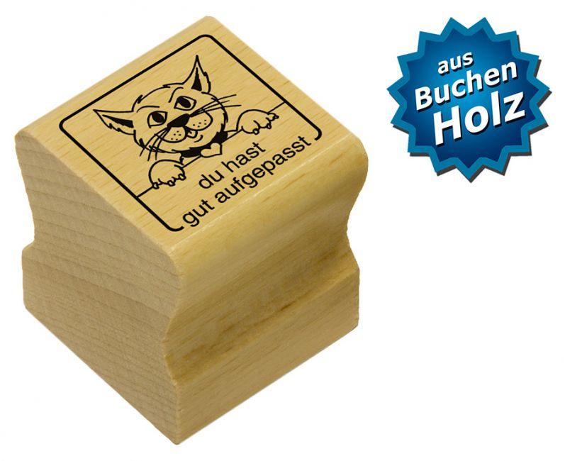 Elbi Motivstempel Kinder Holzstempel - du hast gut aufgepasst