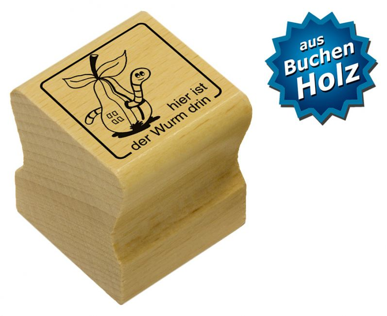 Elbi Motivstempel Kinder Holzstempel - hier ist der Wurm drin