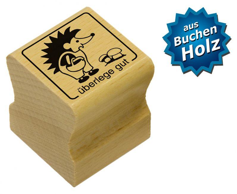 Elbi Holzstempel Lehrerstempel für Grundschule - überlege gut