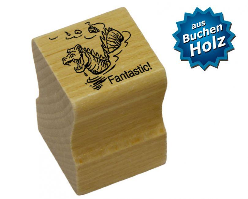 Elbi Englischstempel Lehrerstempel aus Holz für die Schule - Fantastic