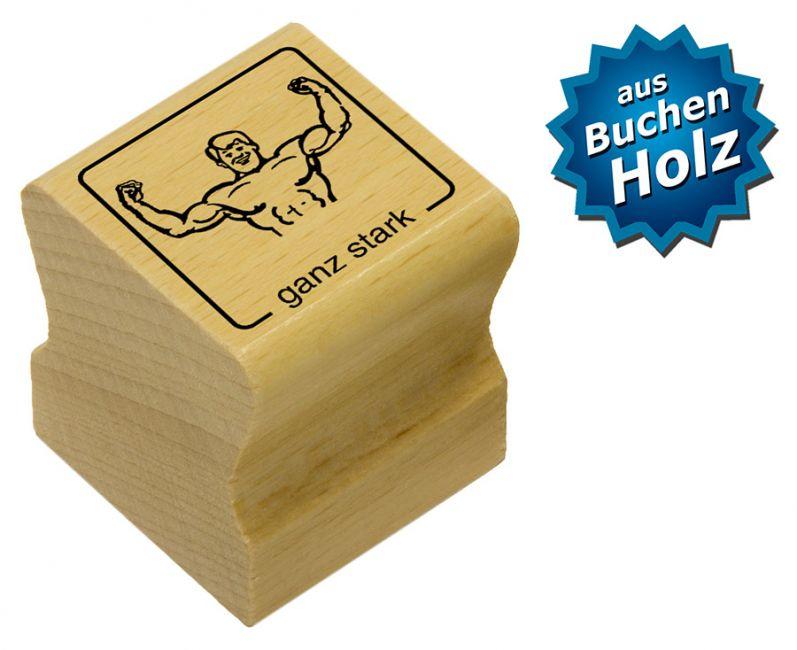 Elbi Motivstempel Kinder Holzstempel - ganz stark