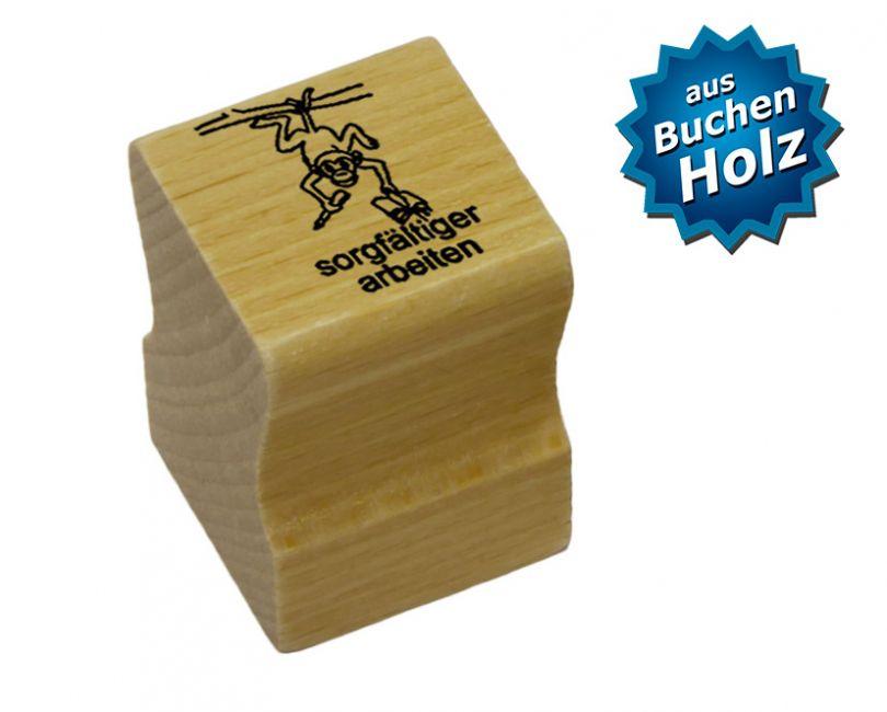Elbi Lehrerstempel aus Holz mit Motiv - sorgfältiger arbeiten