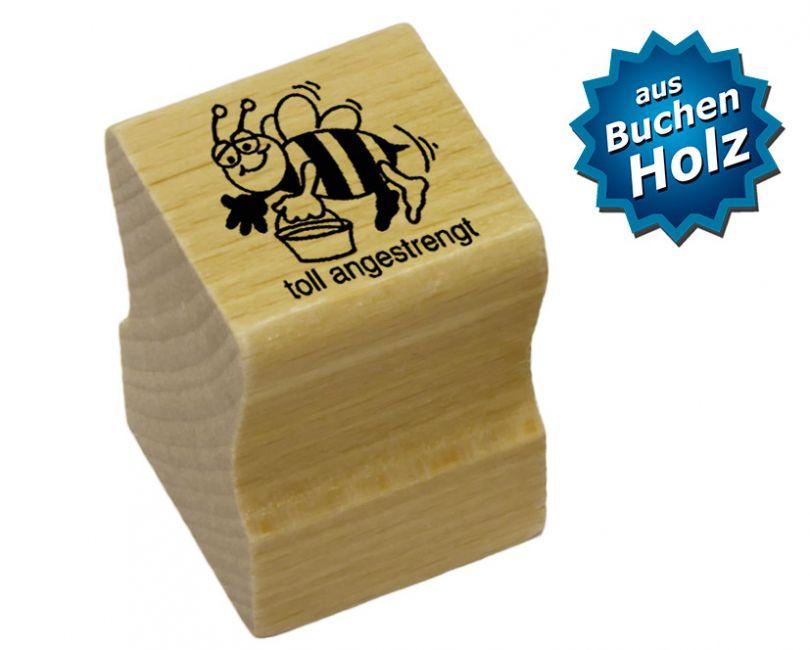 Elbi Stempel aus Holz - Lehrer Motivstempel - toll angestrengt