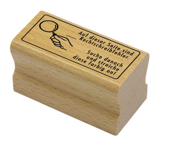 Elbi Holzstempel für die Grundschule - Auf dieser Seite sind __ Rechtschreibfehler