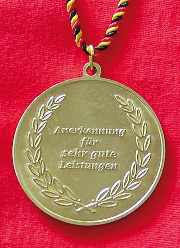 Goldmedaille - Weltkugel …