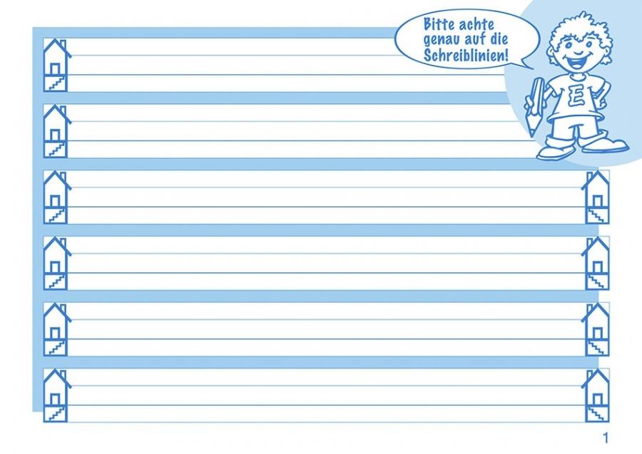 Mit Elbi Schreiben lernen Klasse 1 - Elbi-Großlineatur mit Lineaturverkleinerung für Grundschule, Förderschule und Flüchtlinge in Übergangsklassen oder Intensivklassen