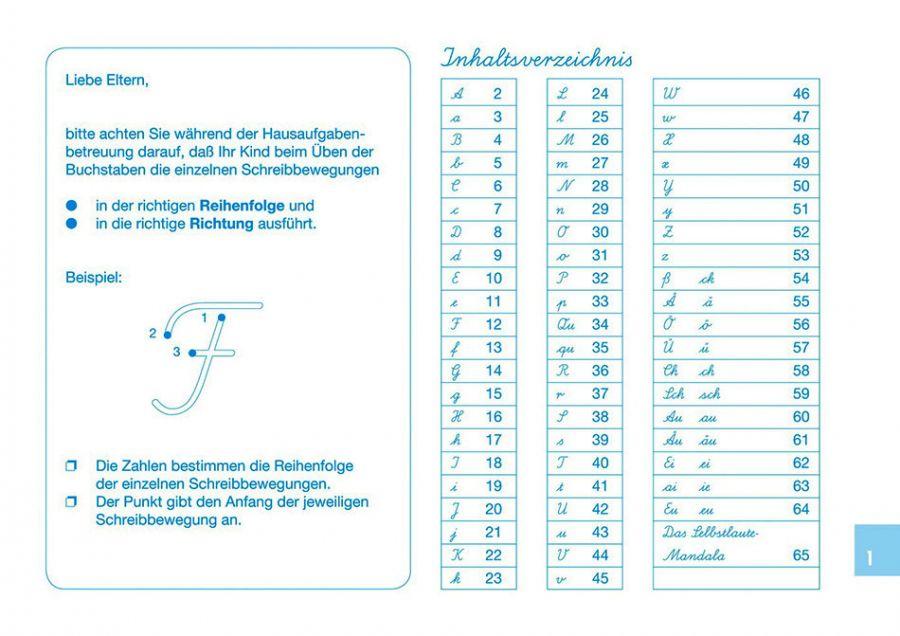 Lateinische Ausgangsschrift schreiben lernen Klasse 1 - Schreiblehrgang mit Übungsheft auch für Flüchtlinge in Übergangsklassen oder Intensivklassen einsetzbar