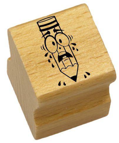 Elbi Lehrerstempel aus Holz - Stift weinend