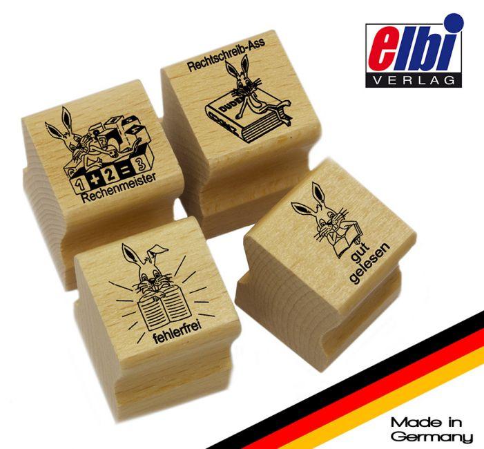 Elbi Lehrerstempel Stempelset mit Motiv - Häschenstempel