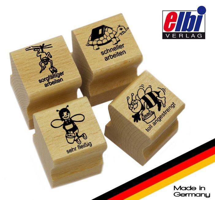 Elbi Lehrerstempel Stempelset mit Motiv - Lob- und Tadelstempel