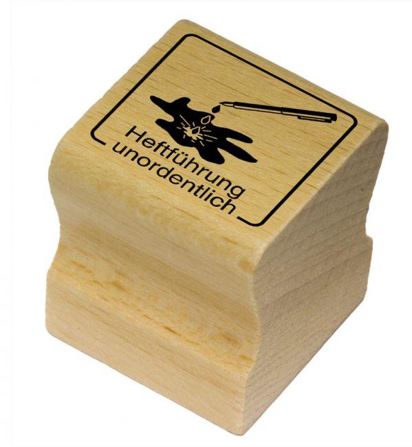 Elbi Motivstempel Kinder Holzstempel - Heftführung unordentlich