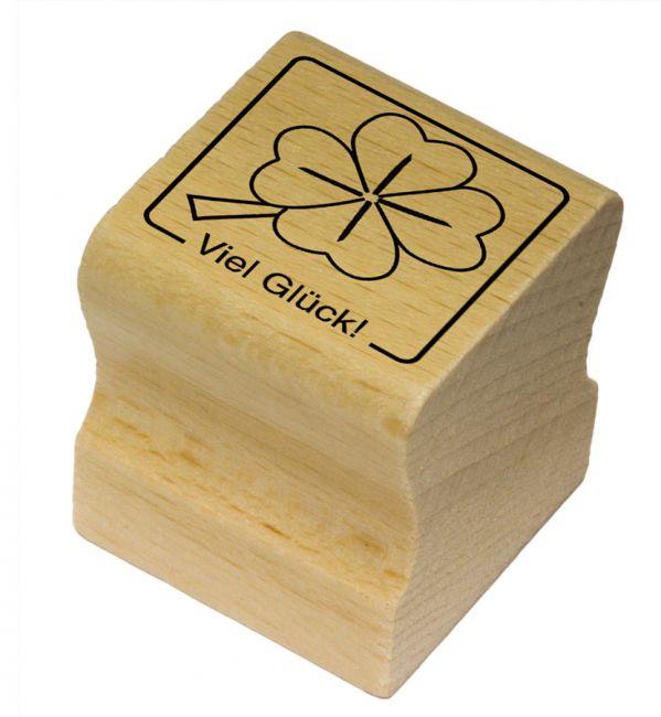 Elbi Motivstempel Kinder Holzstempel - Viel Glück