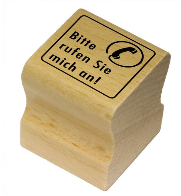 Elbi Motivstempel Kinder Holzstempel - Bitte rufen Sie mich an!