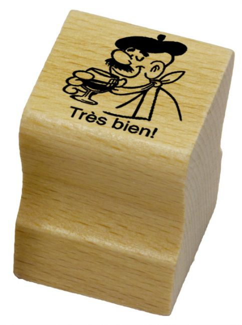 Elbi Französischstempel Lehrerstempel für die Schule - Très bien!