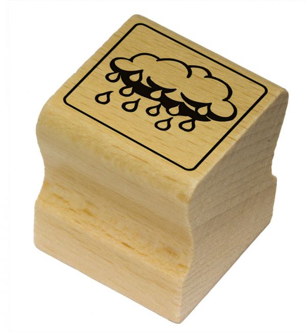 Elbi Motivstempel Kinder Holzstempel - Regenwolke