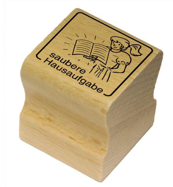 Elbi Motivstempel Kinder Holzstempel - saubere Hausaufgabe