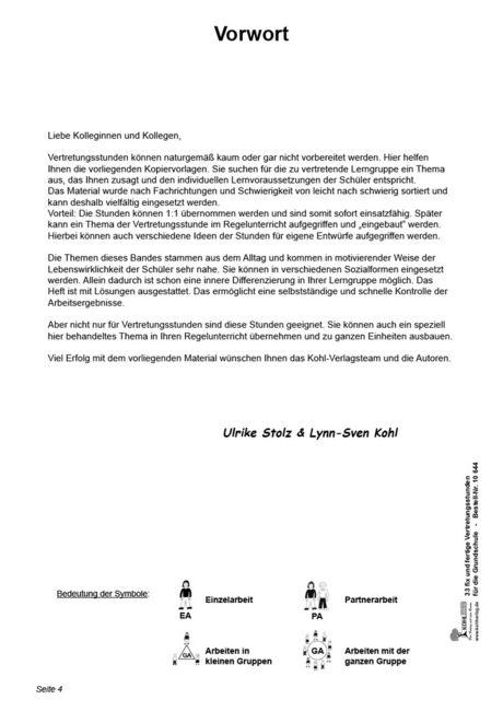 Kopiervorlagen Grundschule - 33 fix und fertige Vertretungsstunden