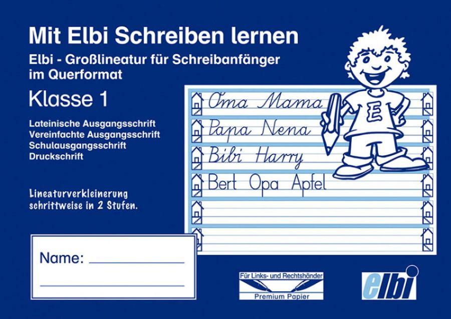 Elbi Grundausstattung zum Deutsch Schreiben lernen Klasse 1 - und Flüchtlinge in Übergangsklassen oder Intensivklassen