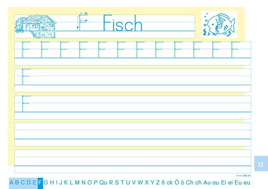 Elbi Schreiblehrgang Druckschrift - Schreiben lernen / ABC lernen für Grundschule, Förderschule und Flüchtlinge in Übergangsklassen oder Intensivklassen
