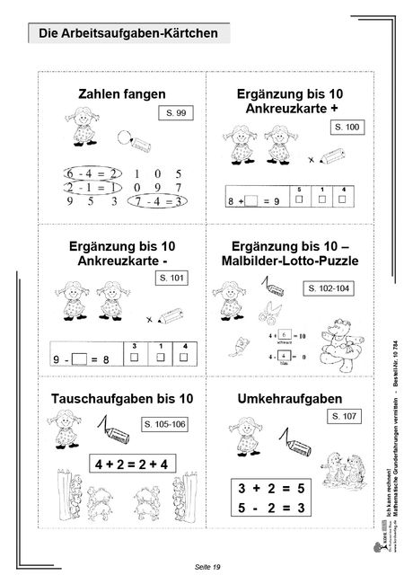 kopiervorlagen grundschule mathematik klasse 1 zahlenraum von 1 bis 20. Black Bedroom Furniture Sets. Home Design Ideas